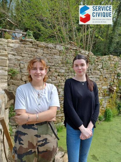 Vans Croce & Mélissa Gagne du Service Civique